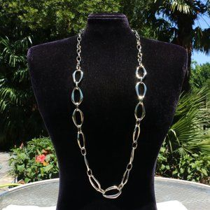 Boho Necklace Long Rope Goldtone Statement NWT